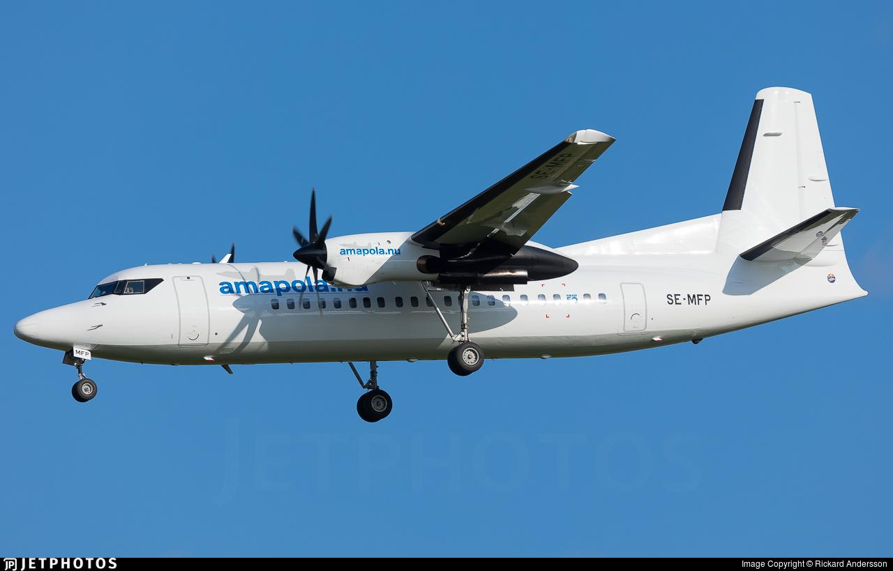 SE-MFP - Fokker 50 - Braathens Regional (Amapola Flyg)