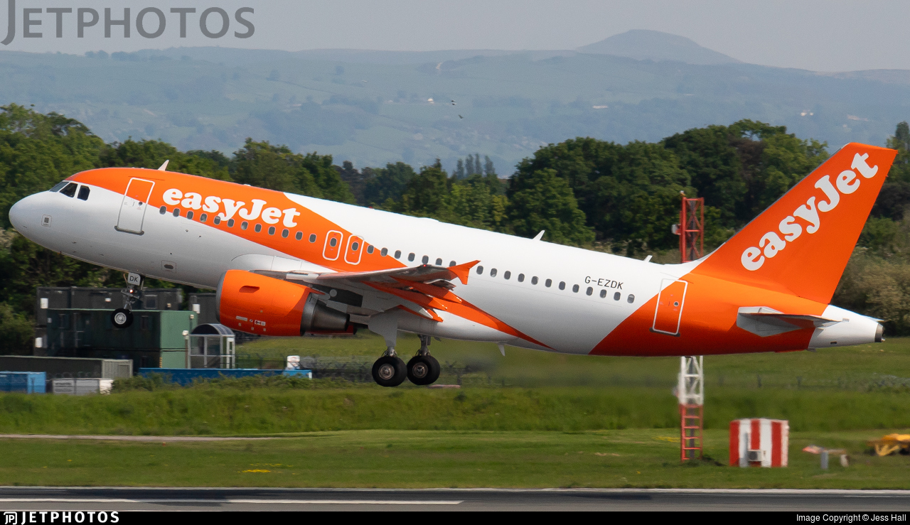 G-EZDK - Airbus A319-111 - easyJet