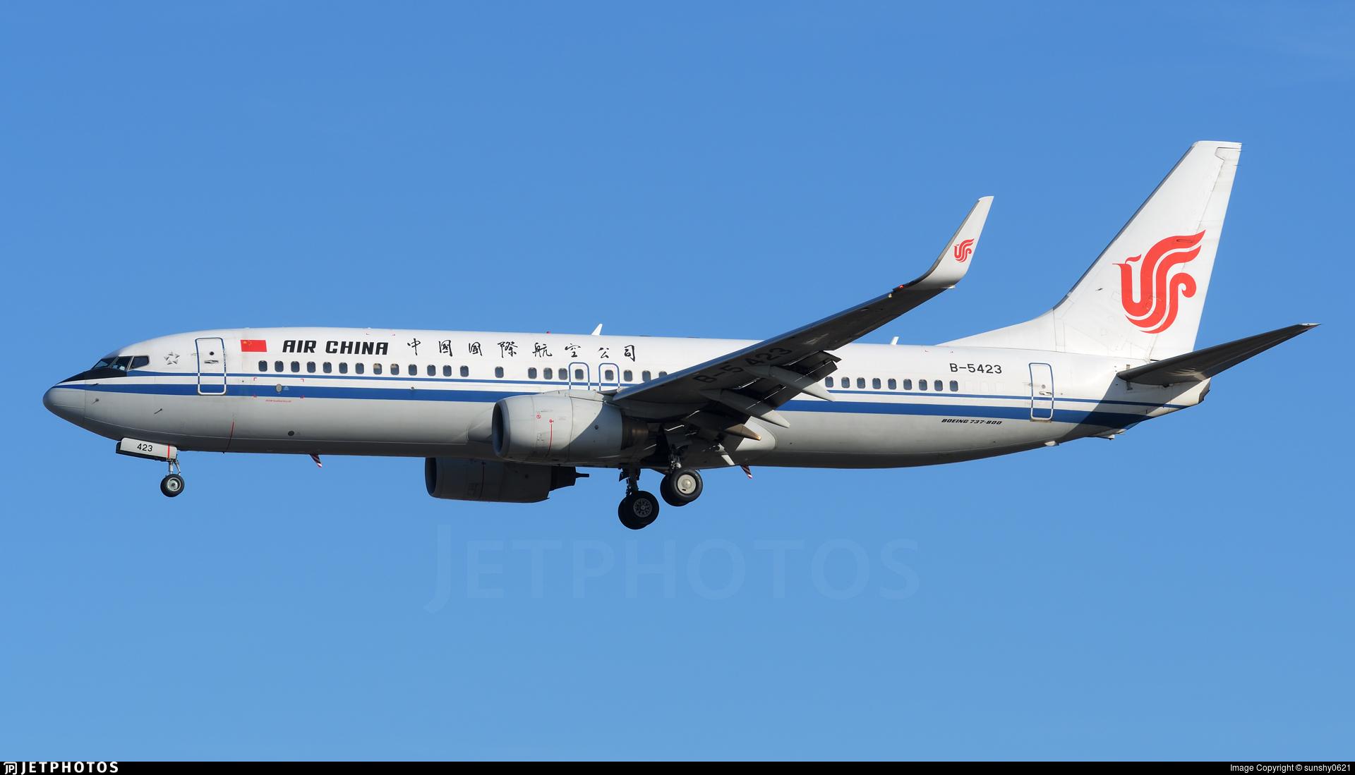 B-5423   Boeing 737-89L   Air China   sunshy0621   JetPhotos
