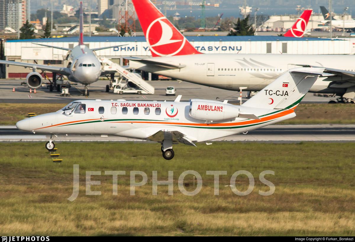 TC-CJA - Cessna 525A CitationJet CJ2 - Turkey - Ministry of Health