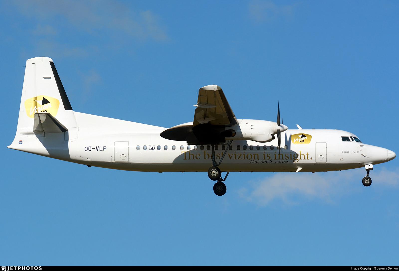 OO-VLP - Fokker 50 - VLM Airlines