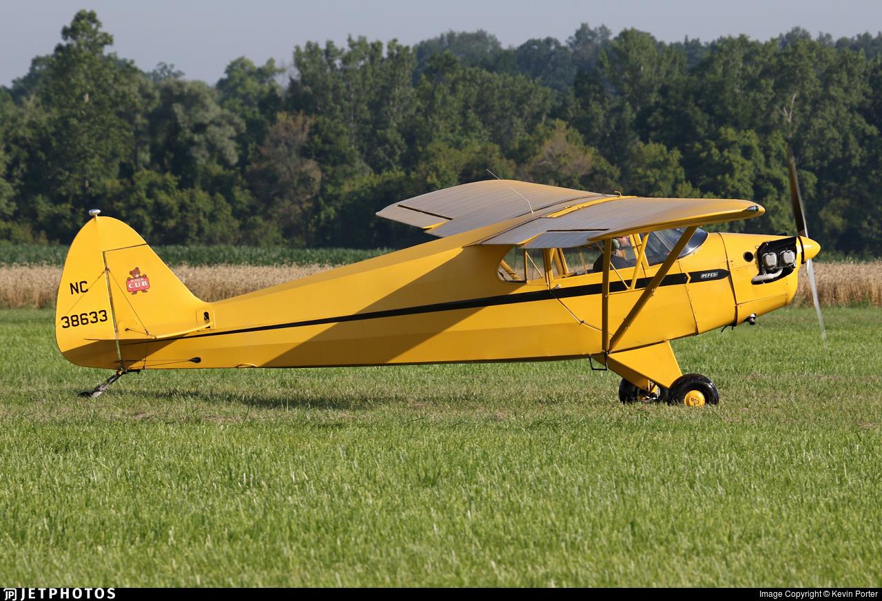 NC38633 - Piper J-5A Cub Cruiser - Private