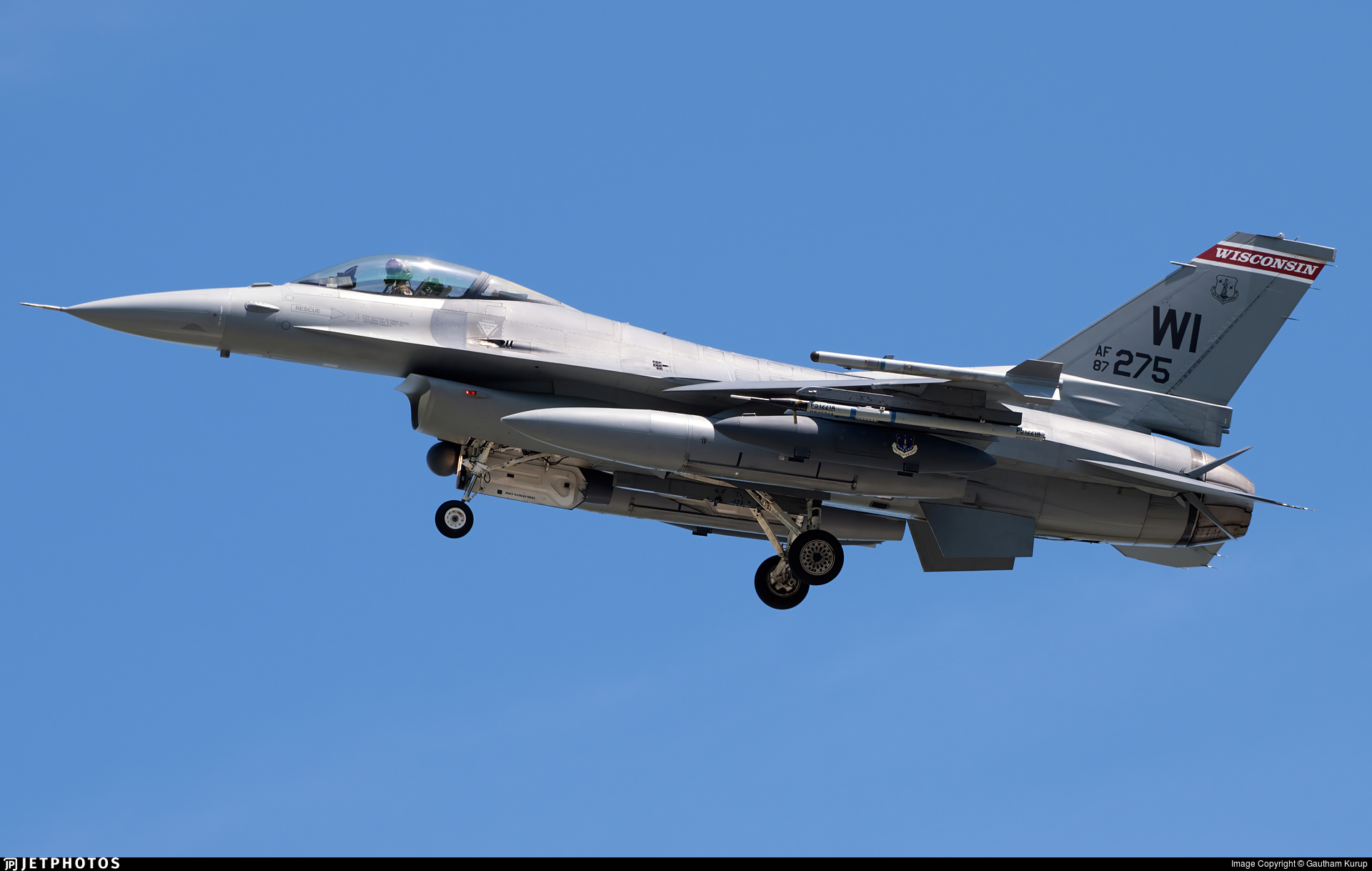 87-0275 - General Dynamics F-16C Fighting Falcon - United States - US Air Force (USAF)