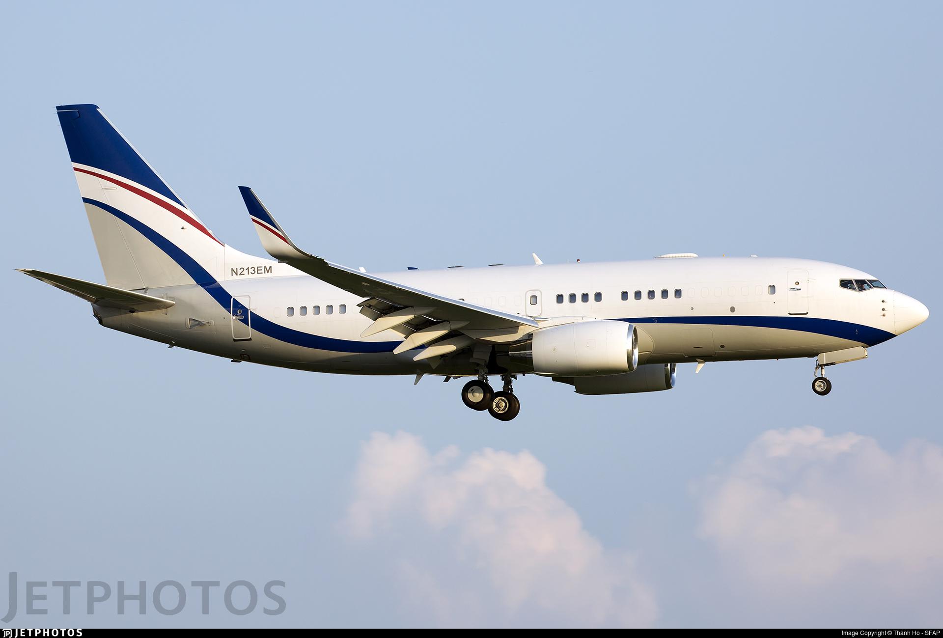 N213EM - Boeing 737-75G(BBJ) - Private