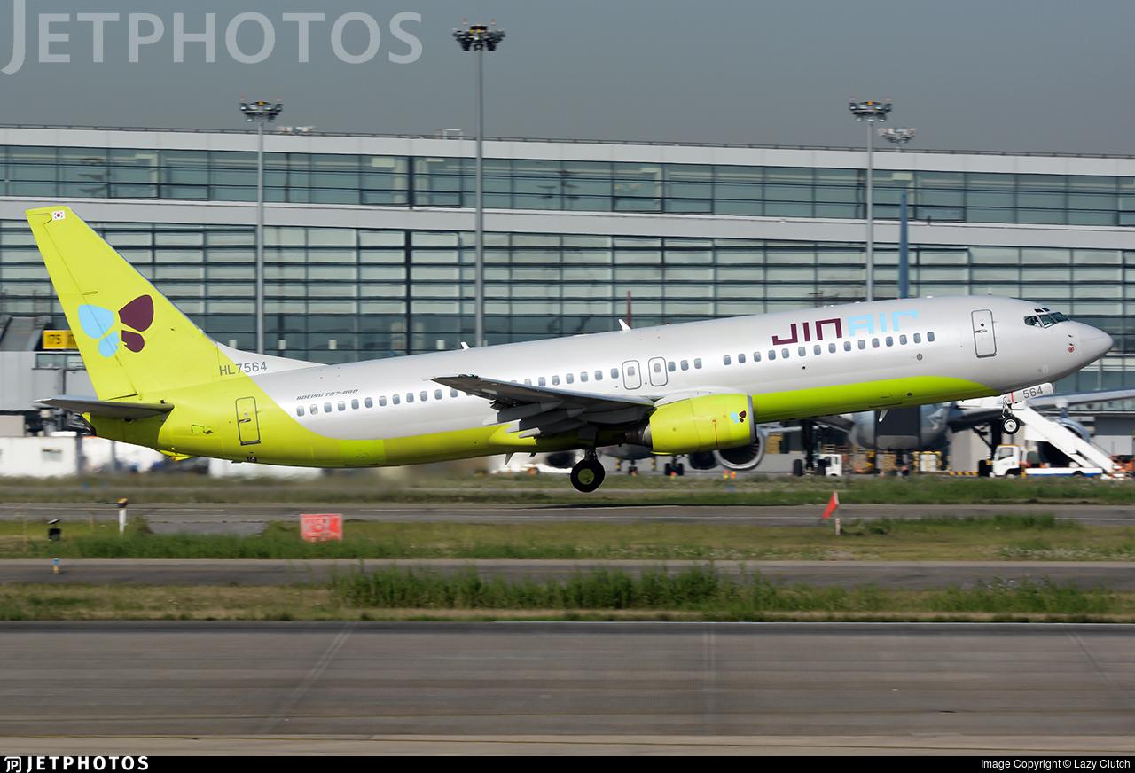 HL7564 - Boeing 737-86N - Jin Air