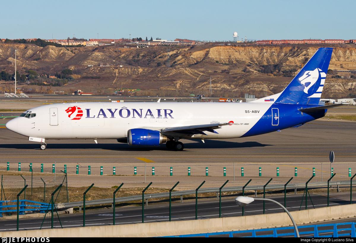 S5-ABV - Boeing 737-4K5(SF) - Layônair (Soliair)