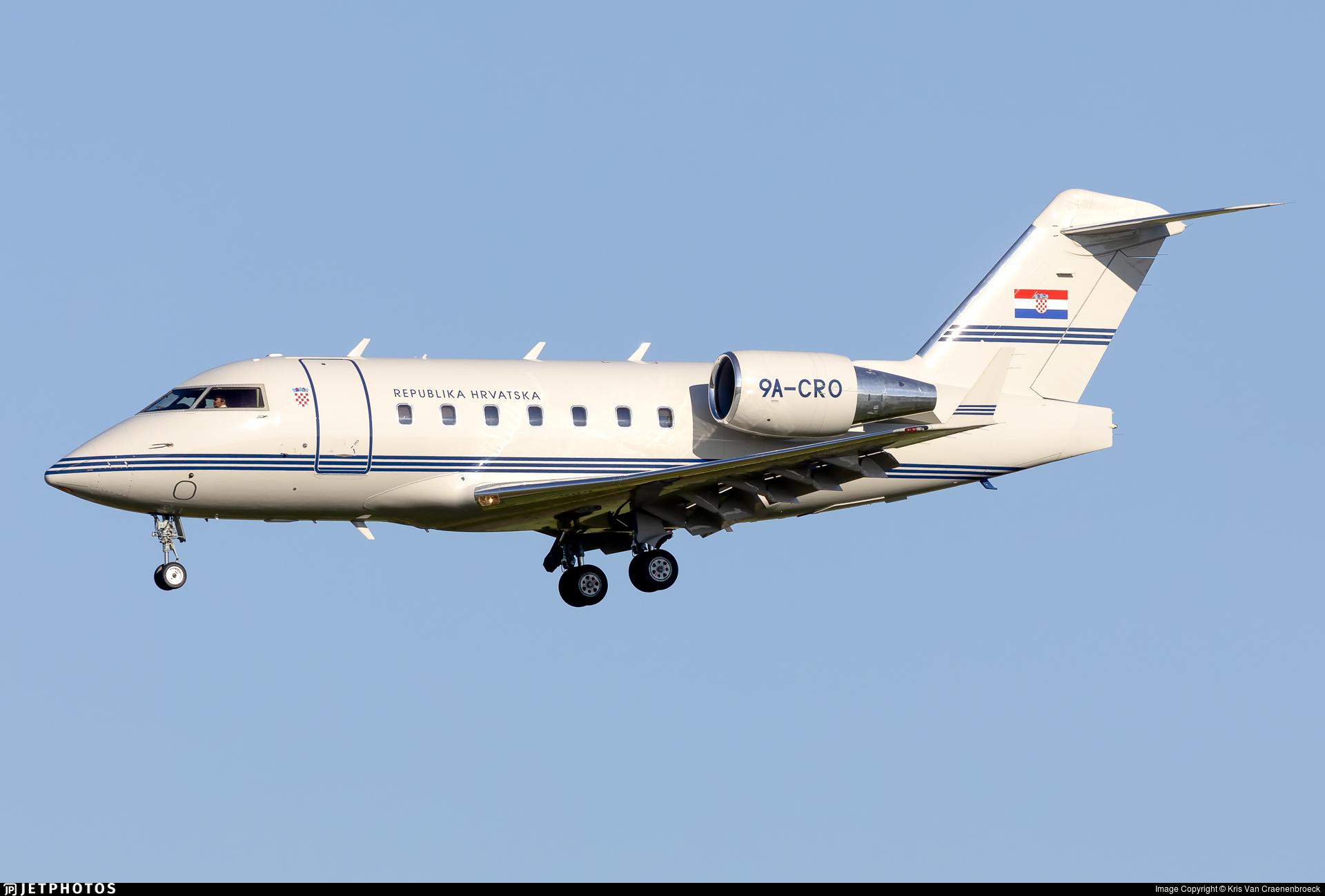 9A-CRO - Bombardier CL-600-2B16 Challenger 604 - Croatia - Government