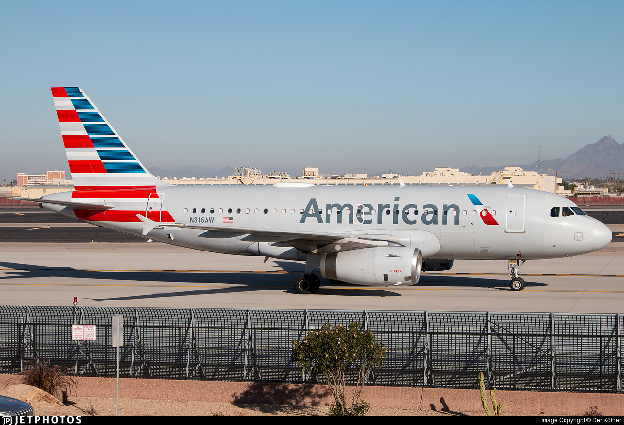 N816AW - Airbus A319-132 - American Airlines