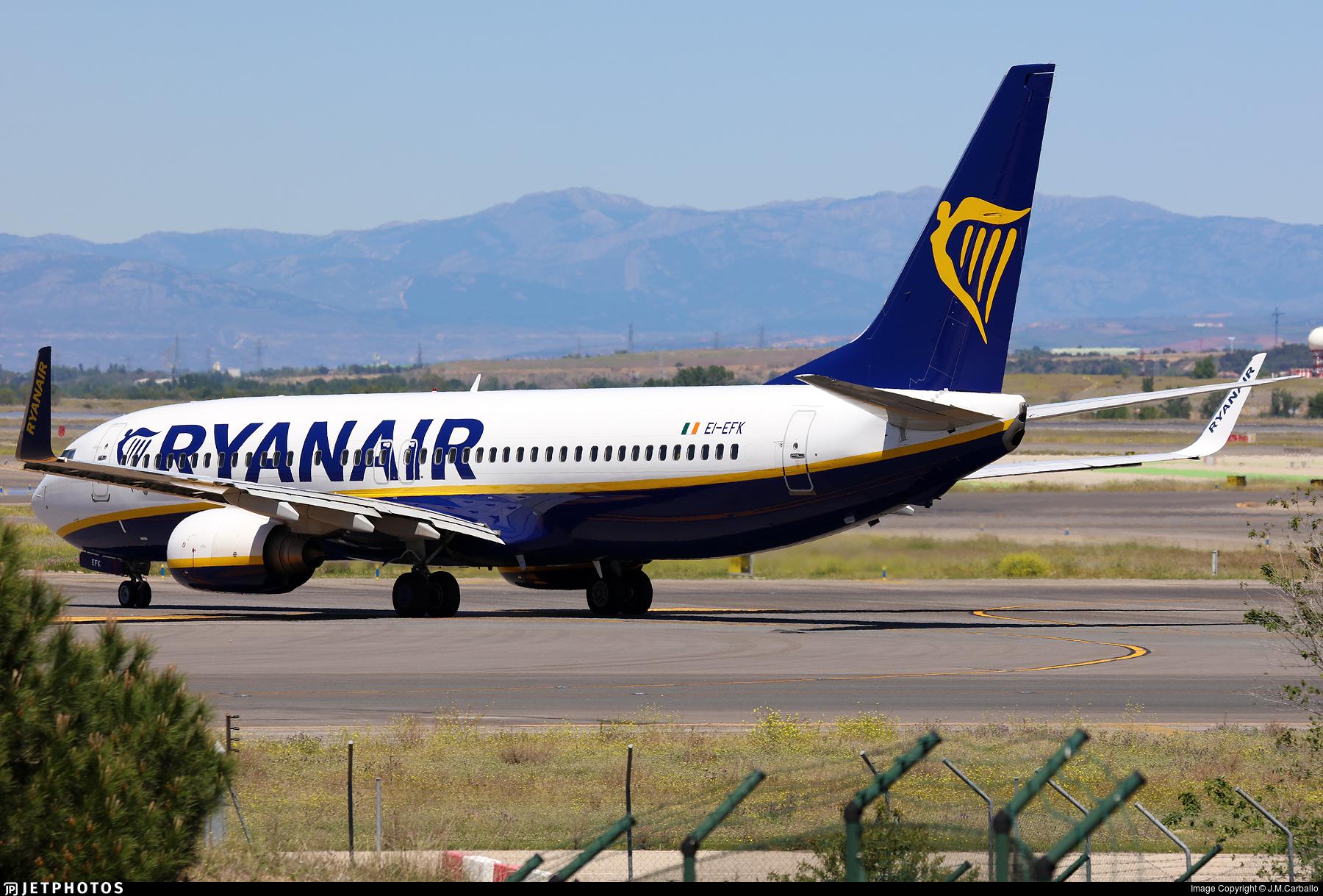 EI-EFK - Boeing 737-8AS - Ryanair