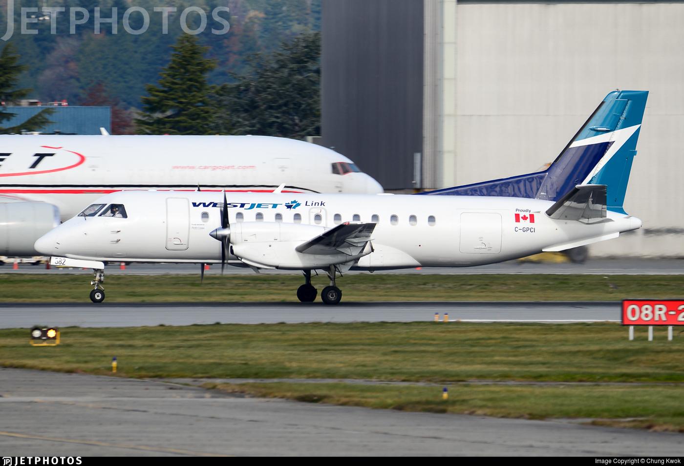 C-GPCI - Saab 340B - WestJet Link (Pacific Coastal Airlines)