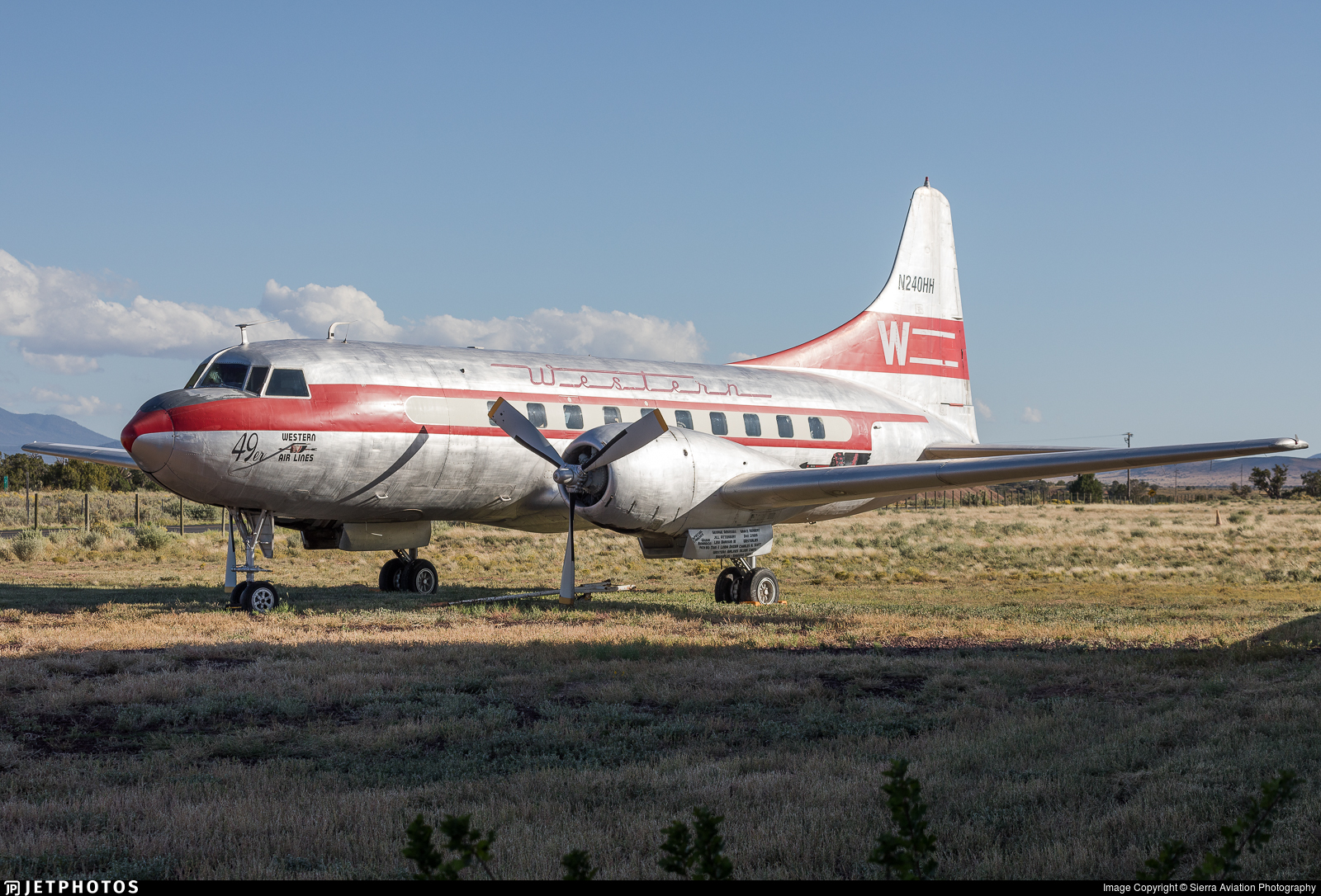 N240HH - Convair CV-240 - Western Airlines