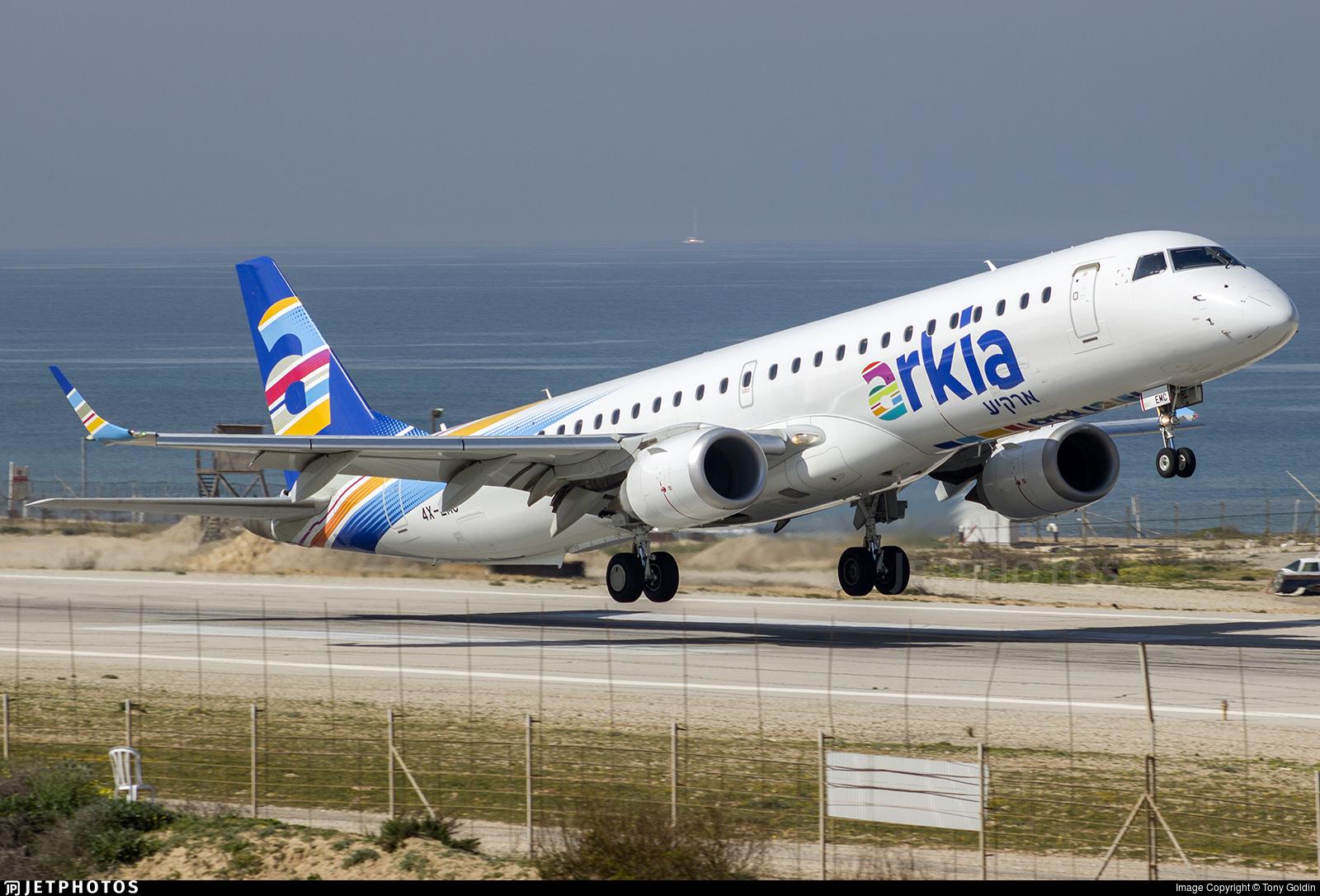 4X-EMC - Embraer 190-200IGW - Arkia Israeli Airlines