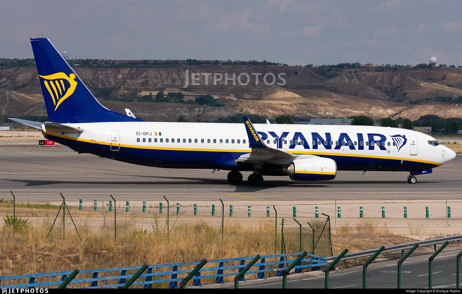 EI-DPJ - Boeing 737-8AS - Ryanair