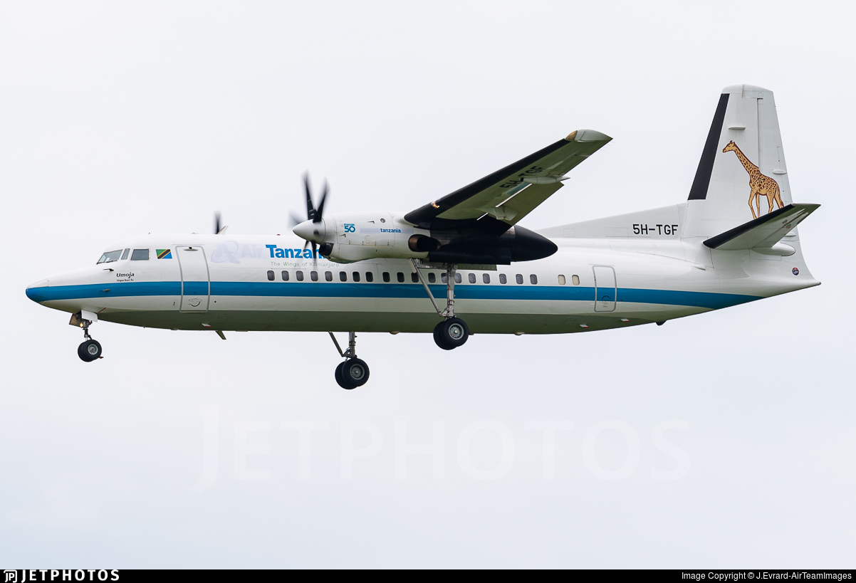 5H-TGF - Fokker 50 - Tanzania - Government