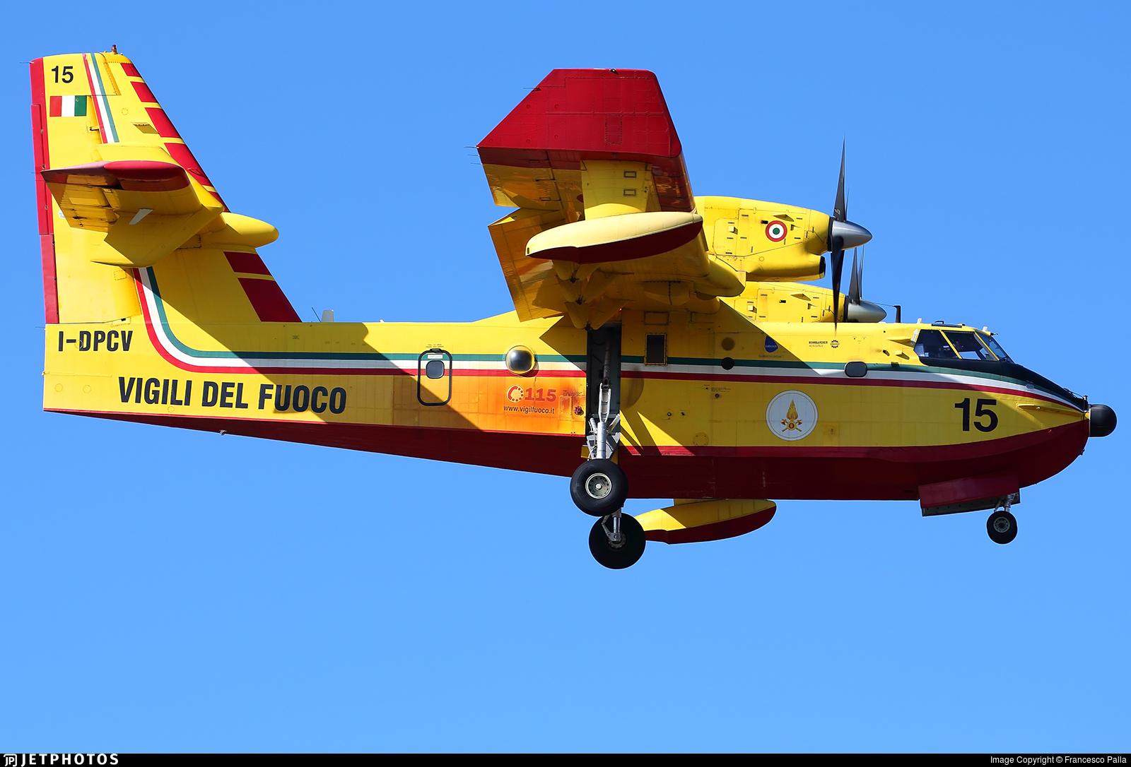 I-DPCV - Canadair CL-415 - Italy - Vigili del Fuoco