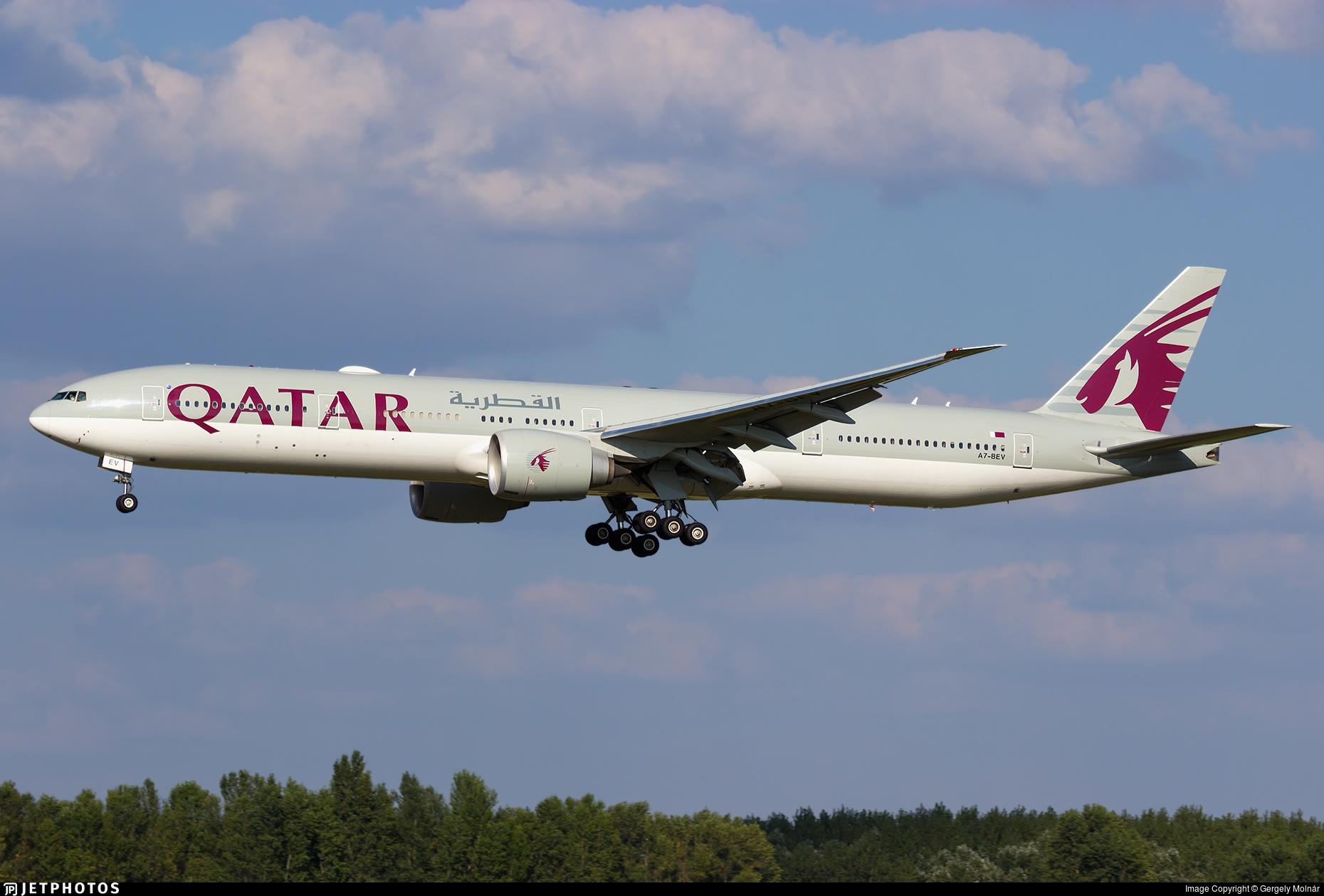 A7-BEV - Boeing 777-3DZER - Qatar Airways