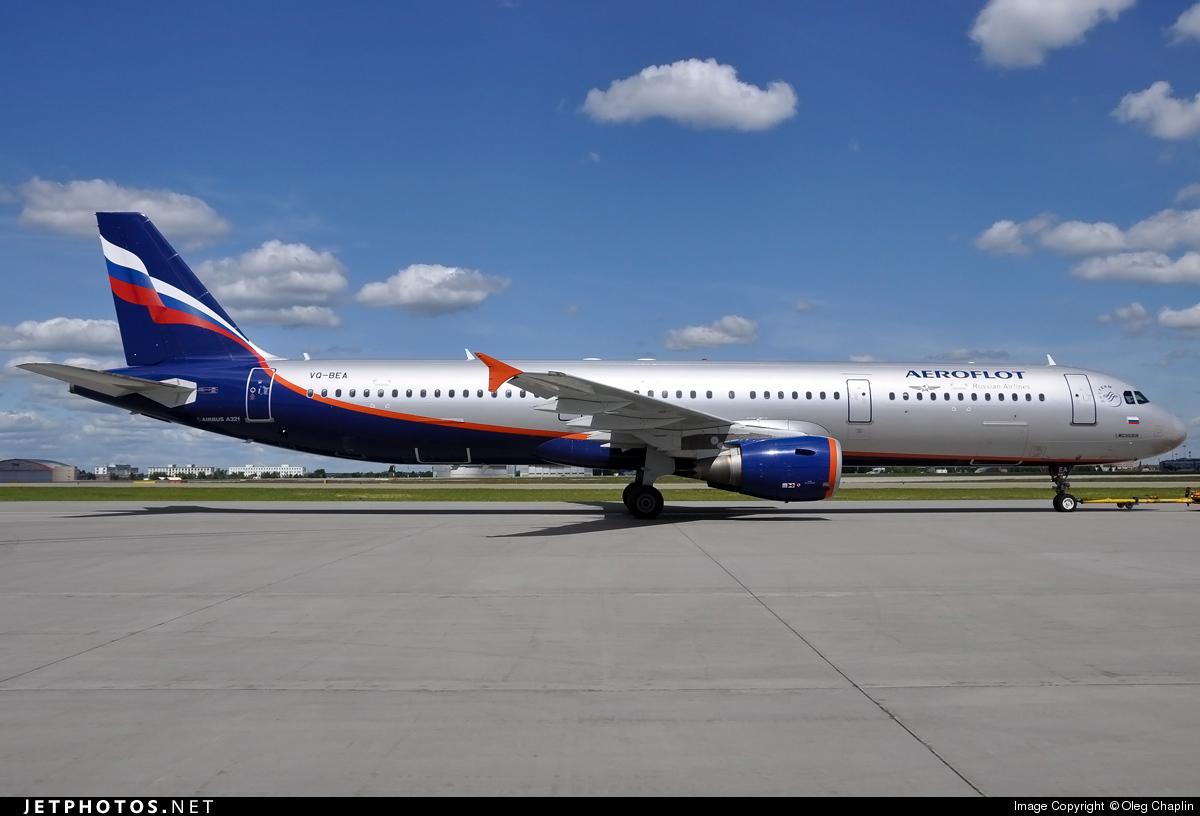 VQ-BEA - Airbus A321-211 - Aeroflot