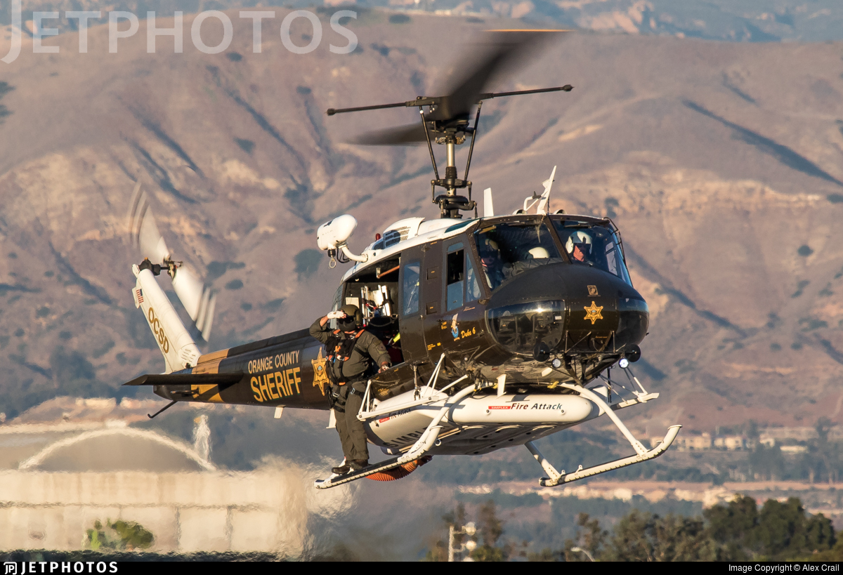 N186SD - Bell UH-1H Iroquois - United States - Orange County Sheriff Department, California