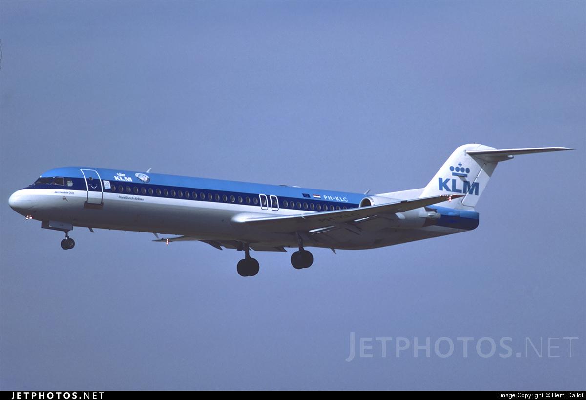 PH-KLC - Fokker 100 - KLM Royal Dutch Airlines