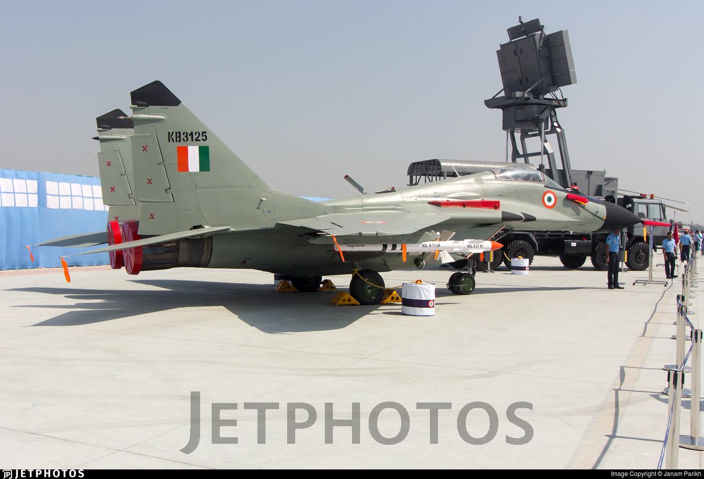 KB3125 - Mikoyan-Gurevich MiG-29B Fulcrum - India - Air Force