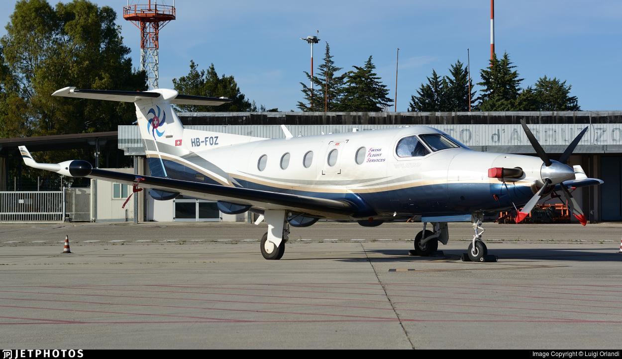 HB-FOZ - Pilatus PC-12/45 - Swiss Flight Services (SFS)