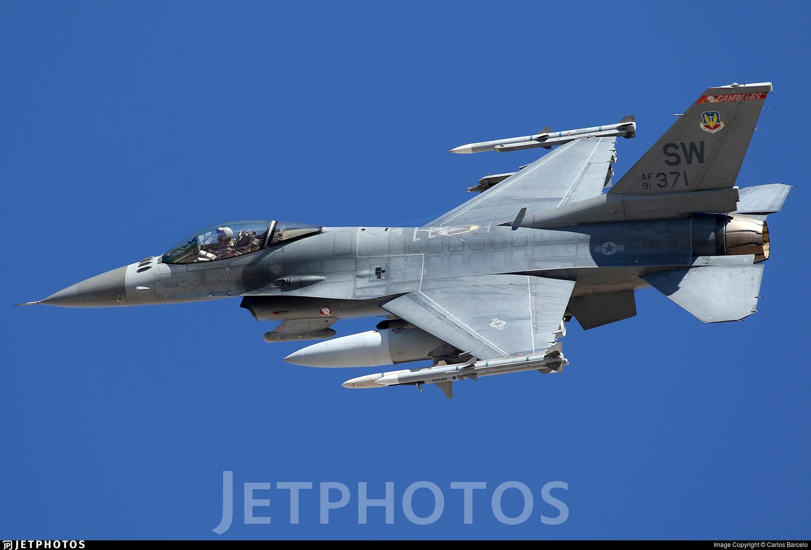 91-0371 - Lockheed Martin F-16C Fighting Falcon - United States - US Air Force (USAF)