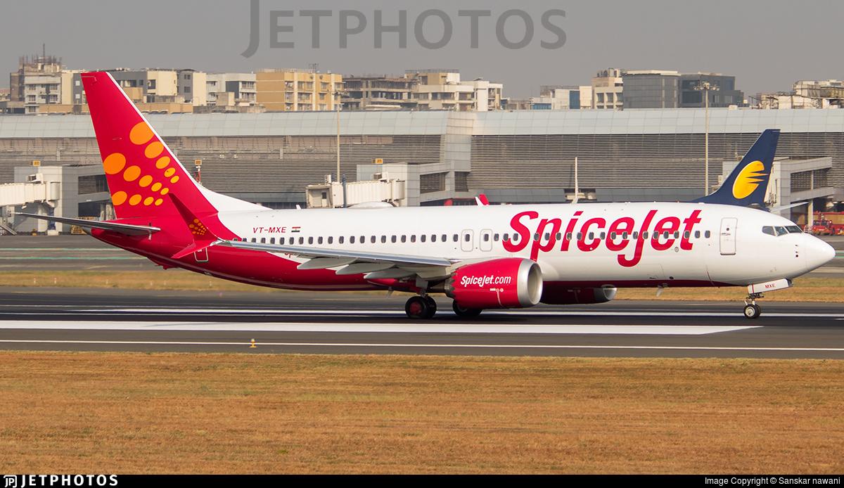 VT-MXE   Boeing 737-8 MAX   SpiceJet   Sanskar nawani
