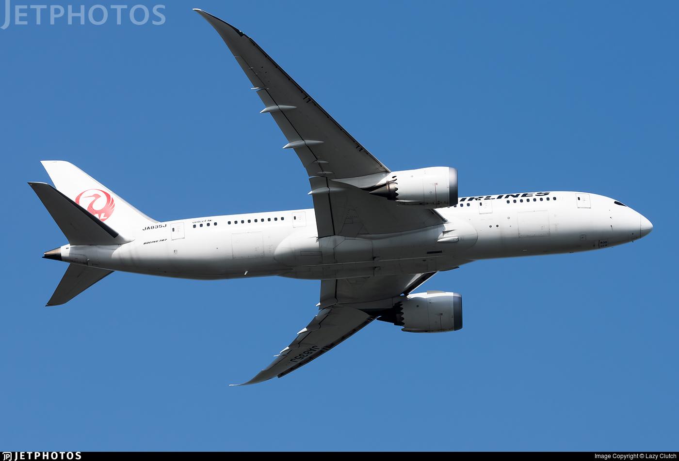 JA835J - Boeing 787-8 Dreamliner - Japan Airlines (JAL)