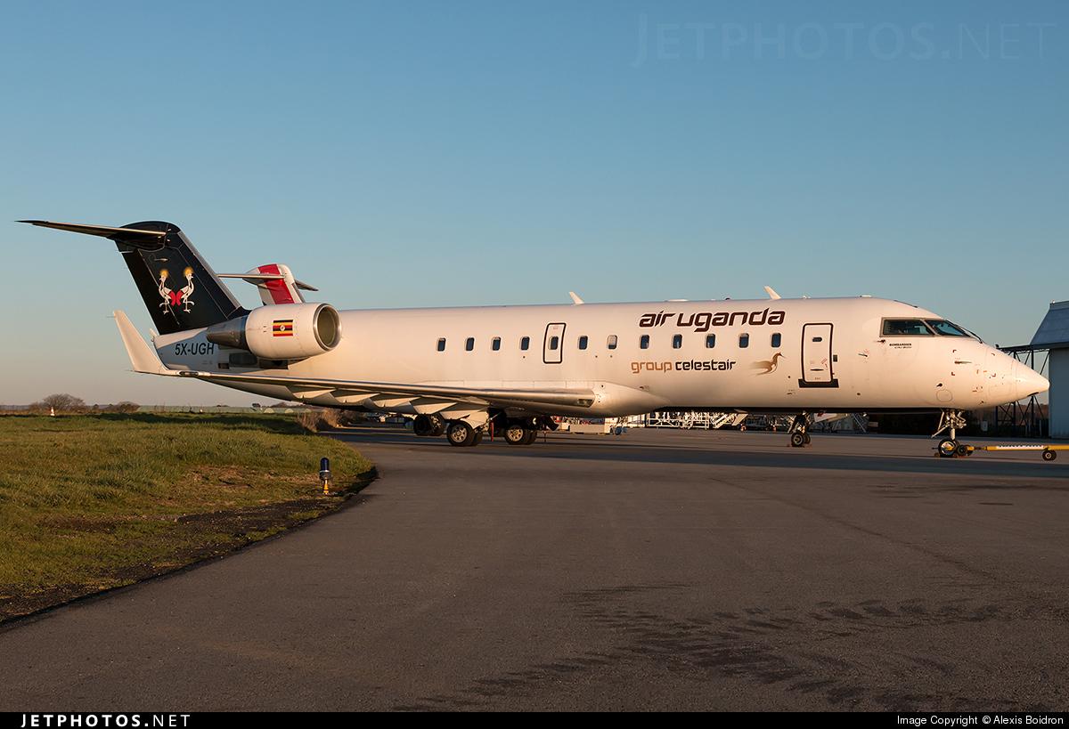 5X-UGH - Bombardier CRJ-200ER - Air Uganda