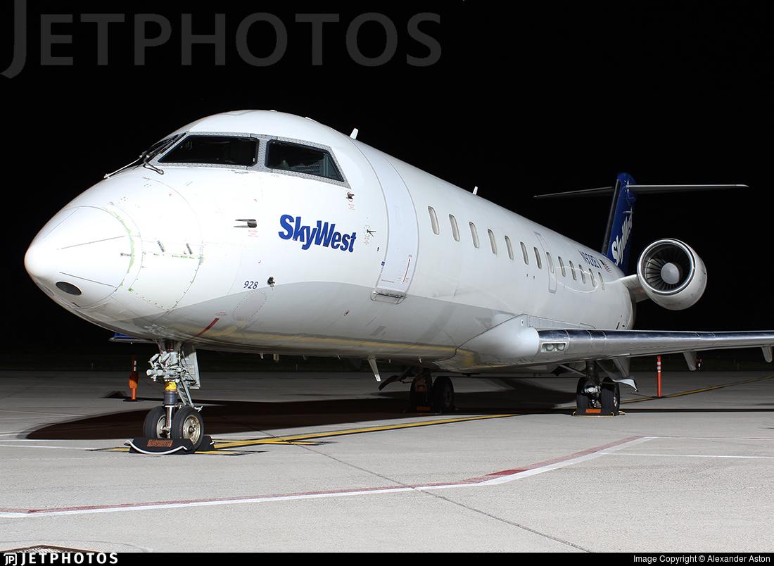 N928EV - Bombardier CRJ-200LR - SkyWest Airlines