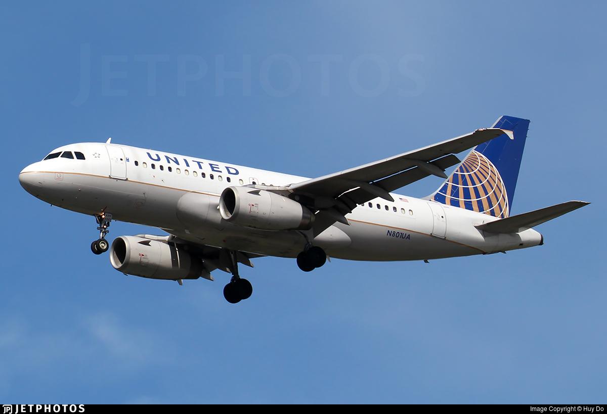 N801UA - Airbus A319-131 - United Airlines