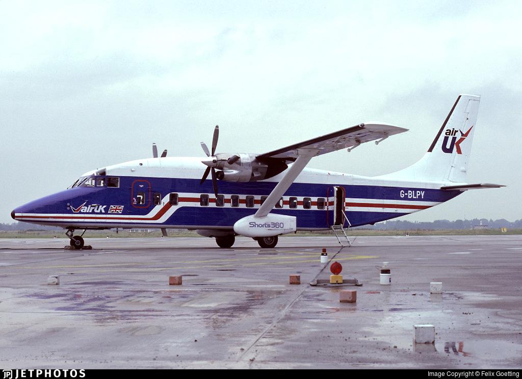 G-BLPY - Short 360-100 - Air UK