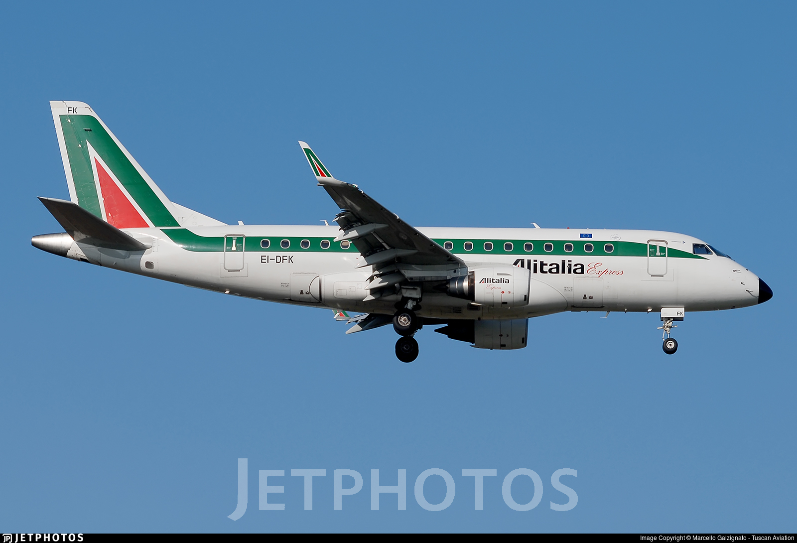 EI-DFK - Embraer 170-100LR - Alitalia Express