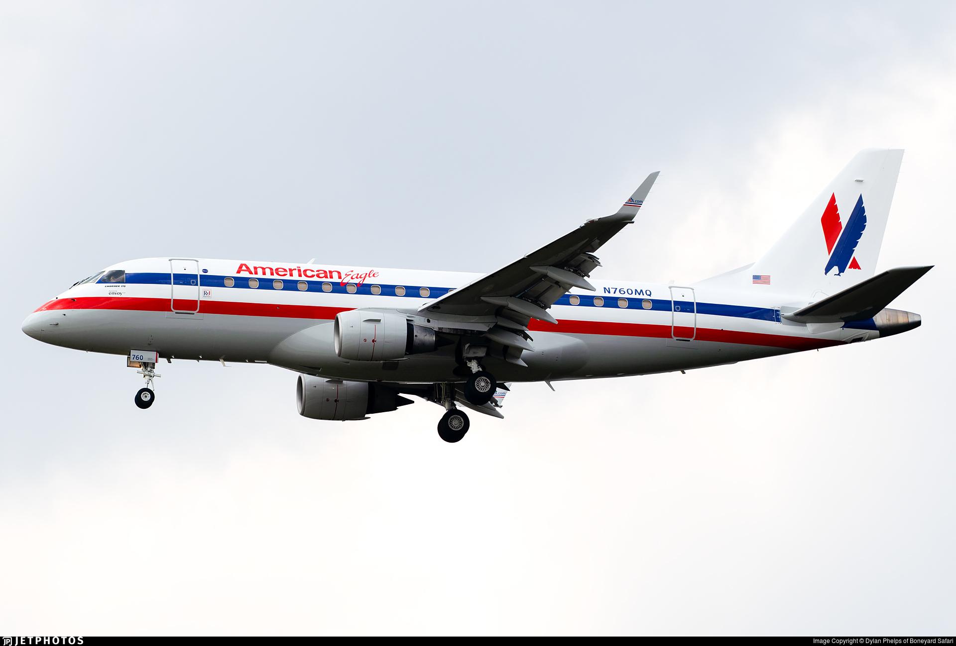 N760MQ - Embraer 170-100STD - American Eagle (Envoy Air)