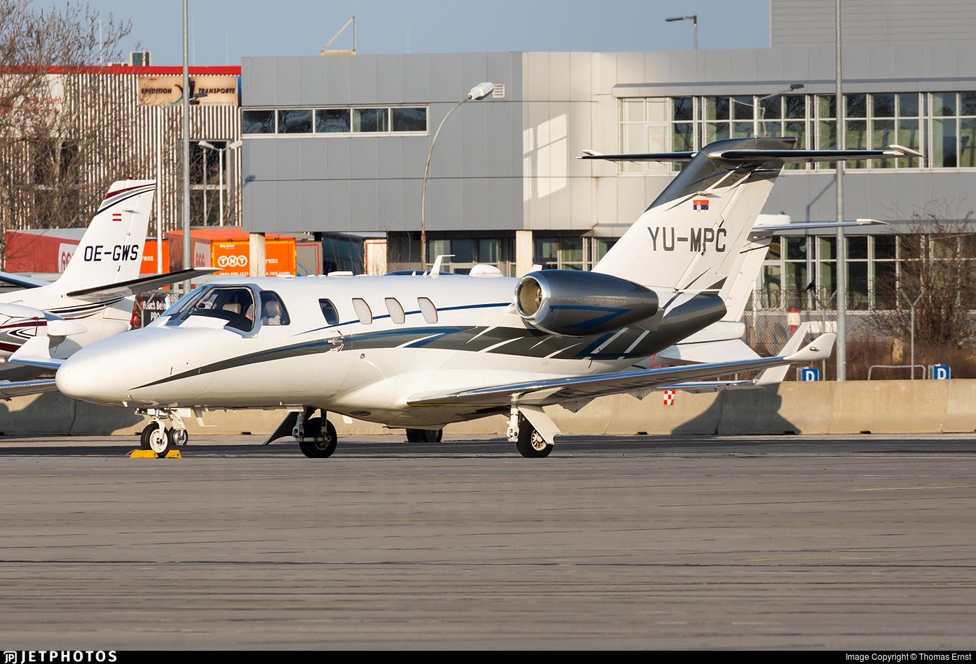 YU-MPC - Cessna 525 CitationJet M2 - Private