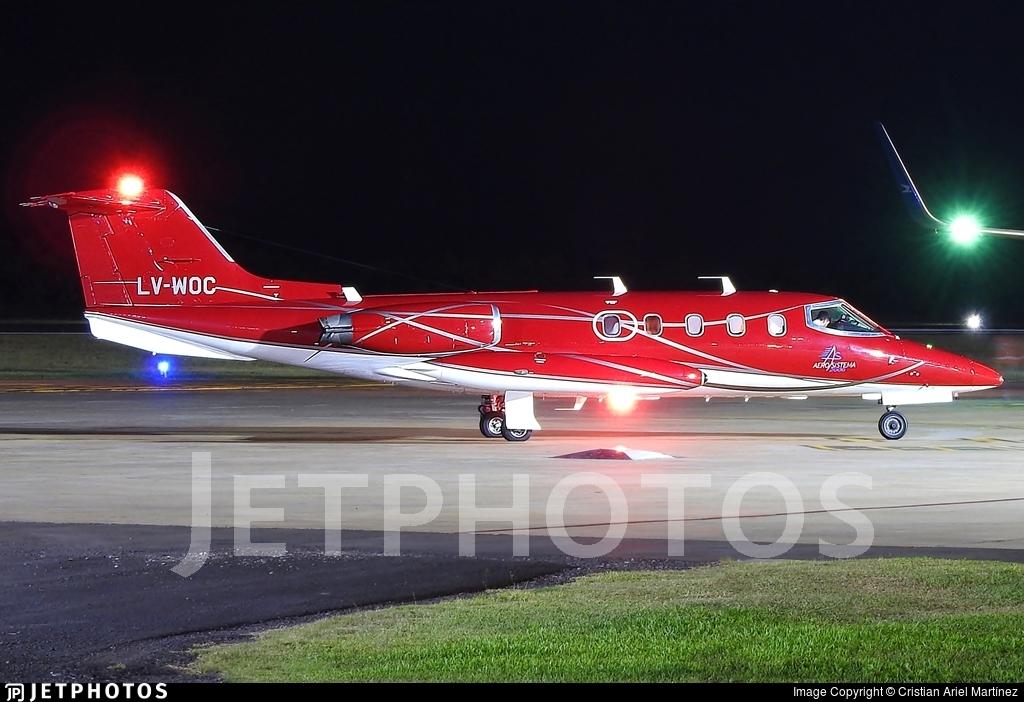 LV-WOC - Gates Learjet 25D - Private