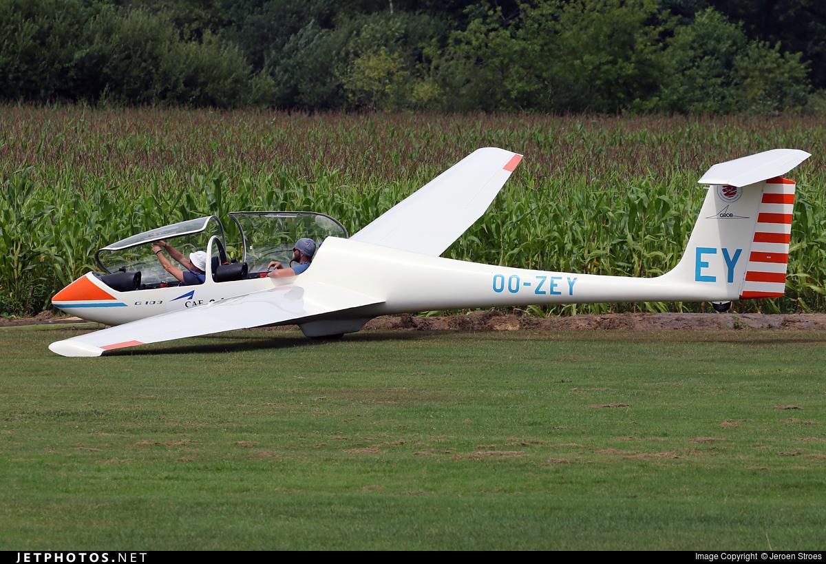 OO-ZEY - Grob G103 Twin Astir II - Zweefvliegclub Albatros