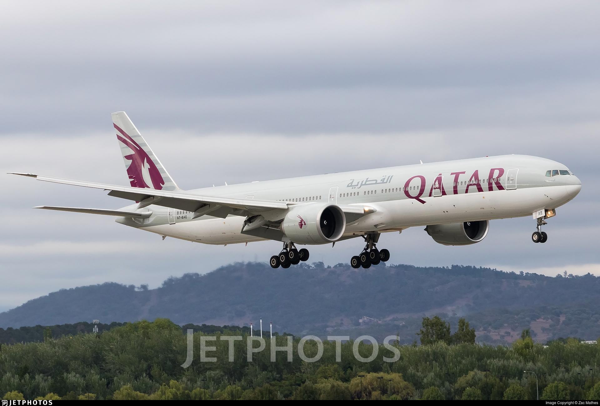 A7-BAE - Boeing 777-3DZER - Qatar Airways