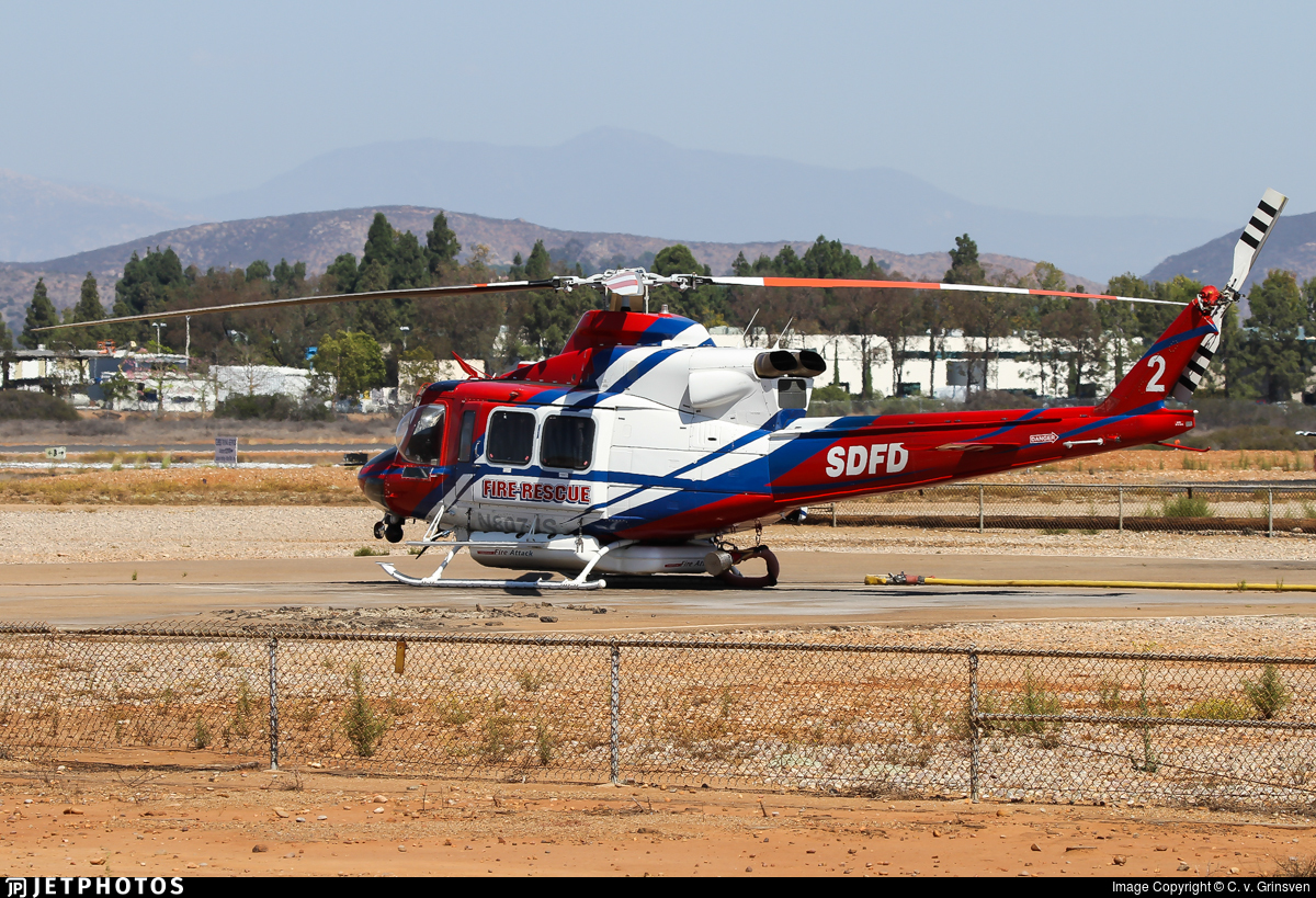 N807JS - Bell 412EP - United States - San Diego Fire Department (SDFD)