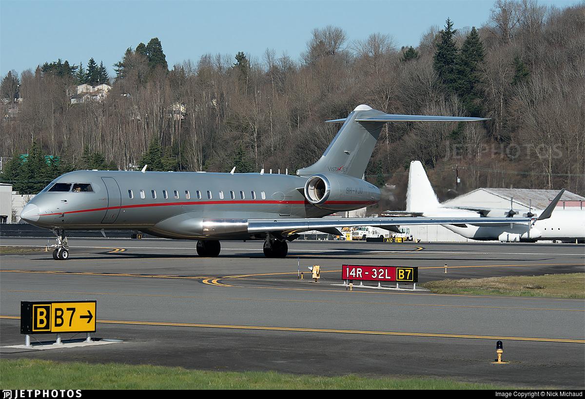 9H-VJU - Bombardier BD-700-1A10 Global 6000 - VistaJet