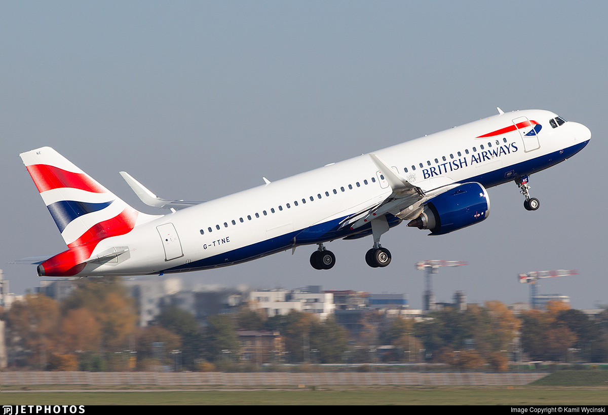 G-TTNE - Airbus A320-251N - British Airways