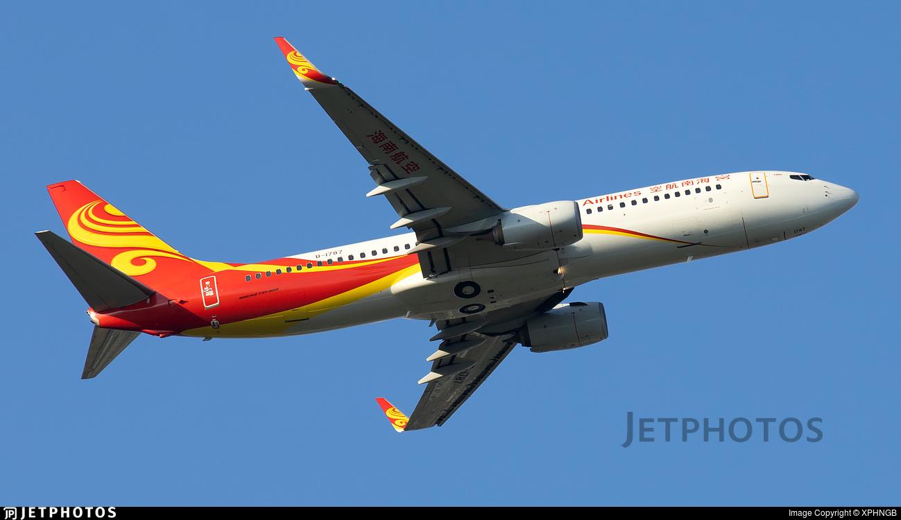 B-1787 - Boeing 737-84P - Hainan Airlines
