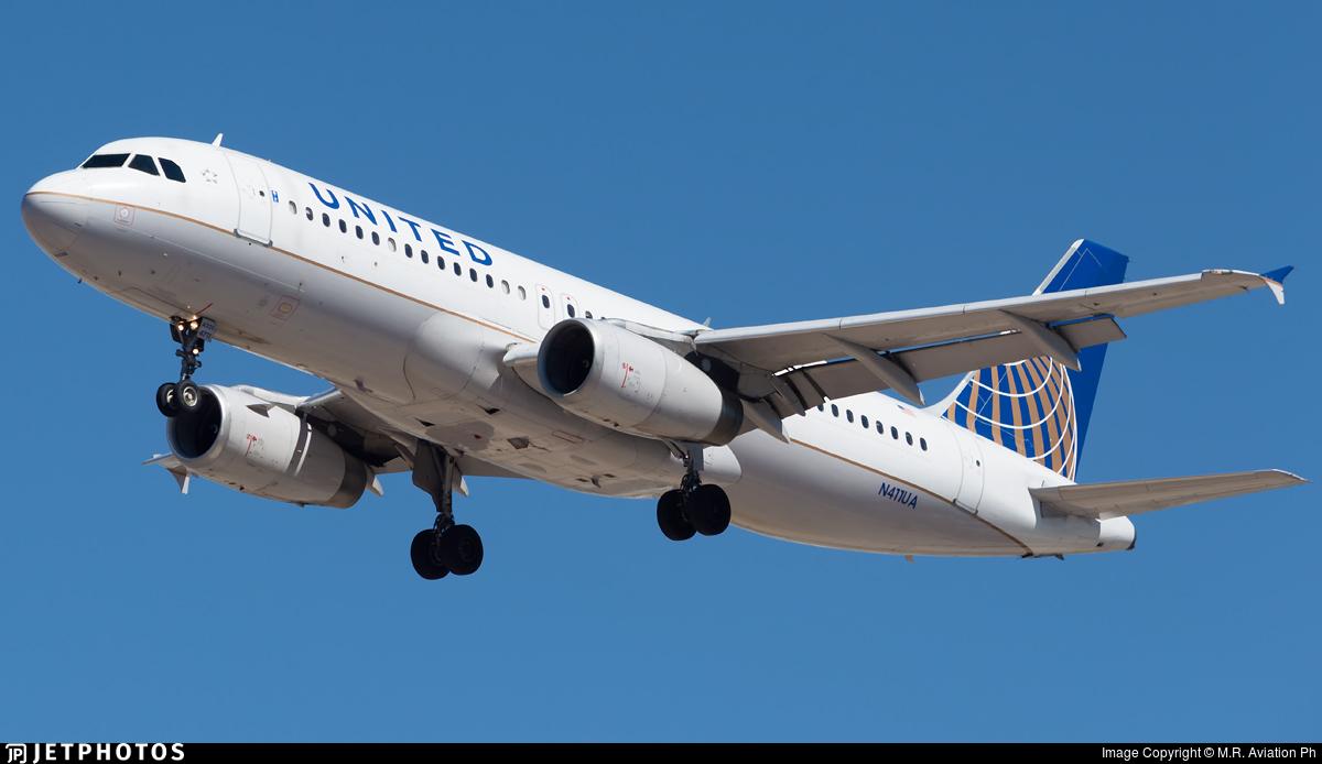 N411UA - Airbus A320-232 - United Airlines