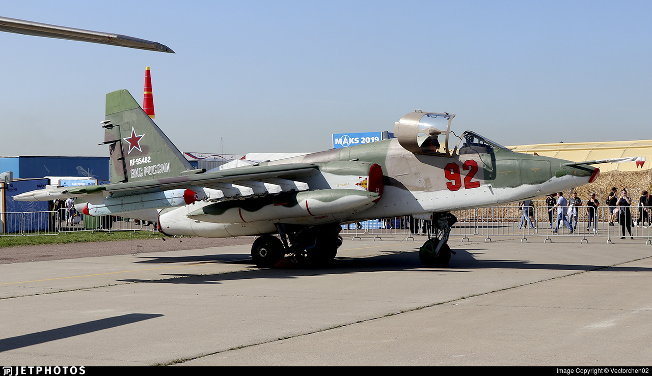 RF-95482 - Sukhoi Su-25SM Frogfoot - Russia - Air Force