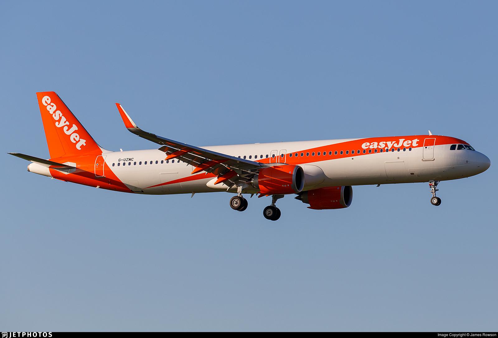 G-UZMC - Airbus A321-251NX - easyJet