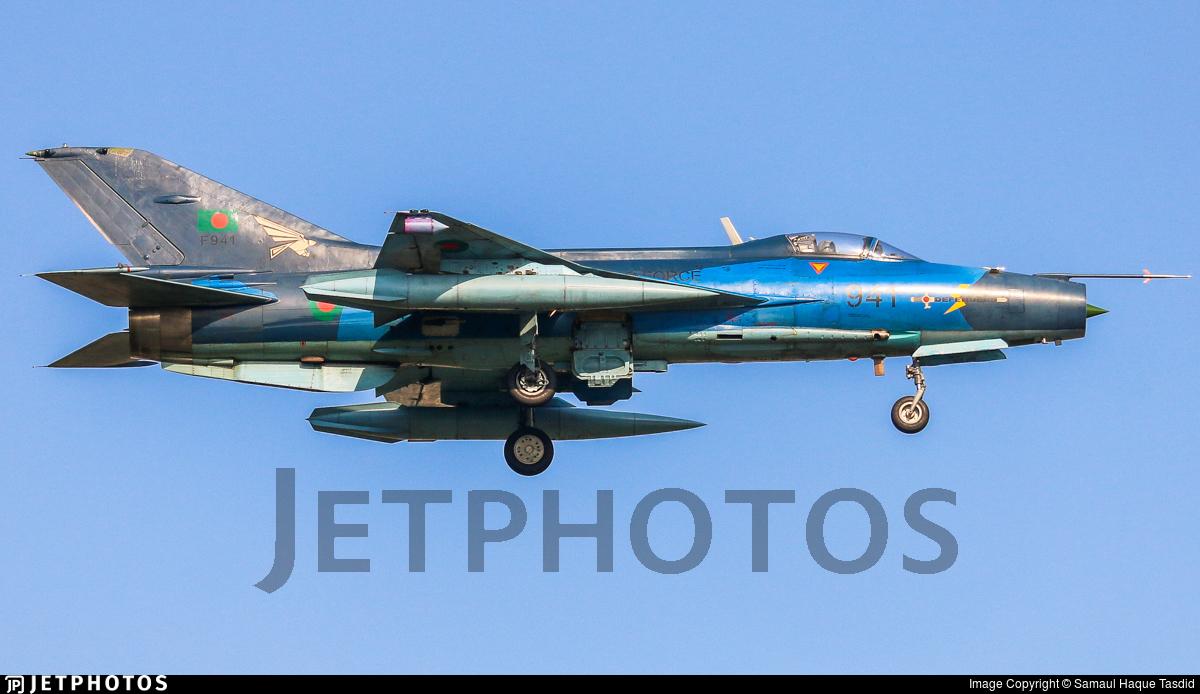 F941 - Chengdu F-7BG - Bangladesh - Air Force