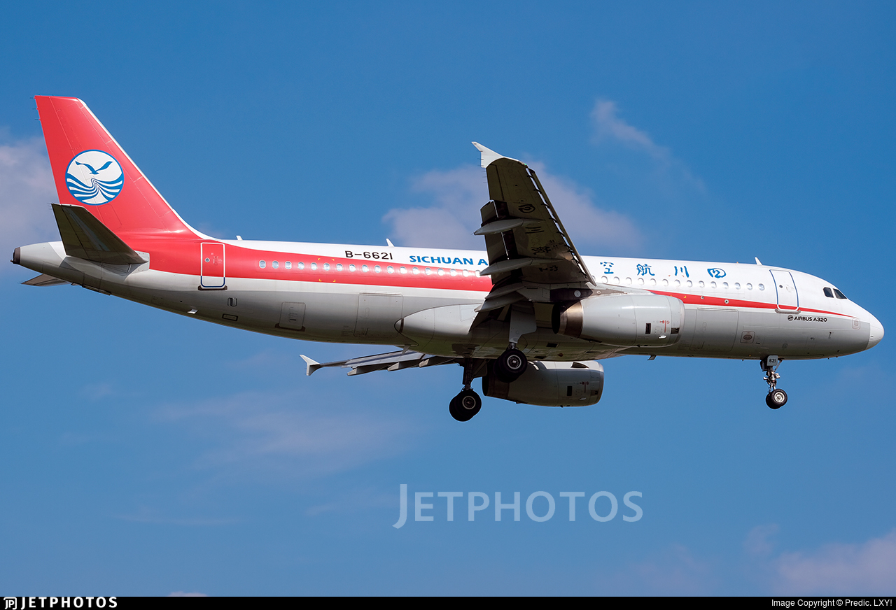 B-6621 - Airbus A320-232 - Sichuan Airlines