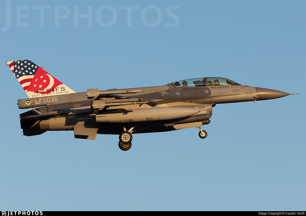 96-5035 - Lockheed Martin F-16DJ Fighting Falcon - Singapore - Air Force