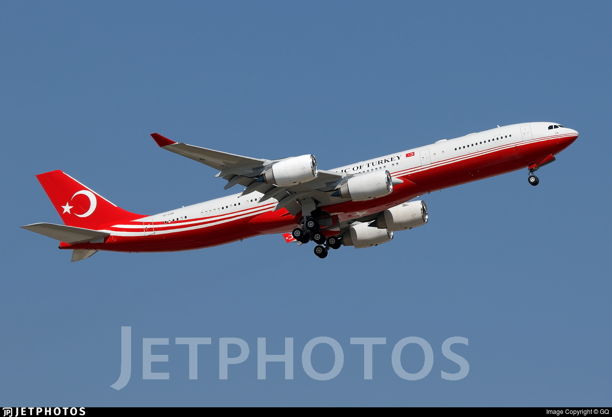 TC-CAN - Airbus A340-541 - Turkey - Government