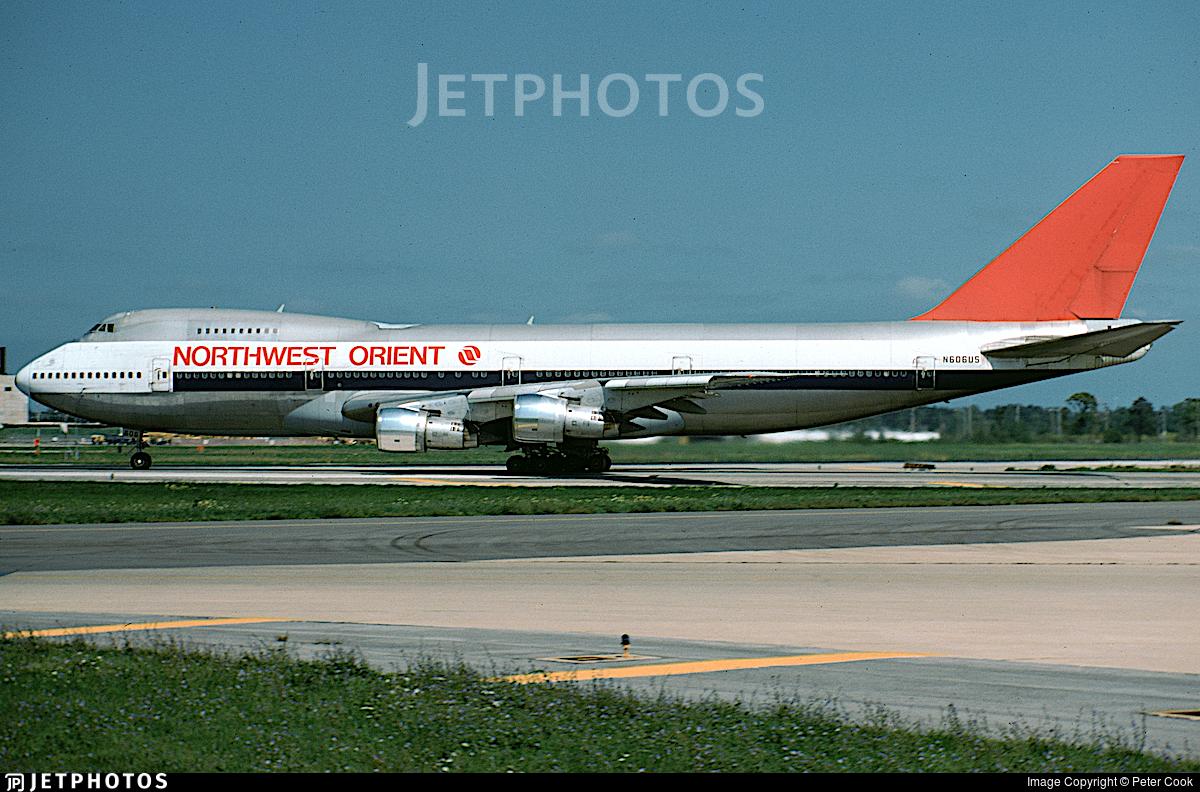 N606US - Boeing 747-151 - Northwest Orient Airlines